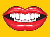Glossy female lips — Stock Vector