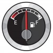 Half gas tank — Stock Vector