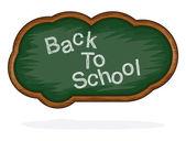 Blackboard Back to School cloud — Stock Vector