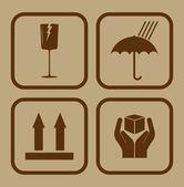 Fragile icons — Stock Vector
