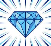 Diamond shine — Stock Vector