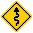 Winding Road Sign — Vetorial Stock #29953551