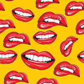 Lips seamless pattern — Stock Vector