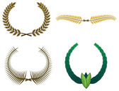 Set of laurel wreaths for design — Stock Vector