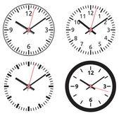Clock collection — Stock Vector