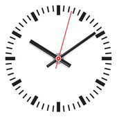 Vector clock face - easy change time — Wektor stockowy