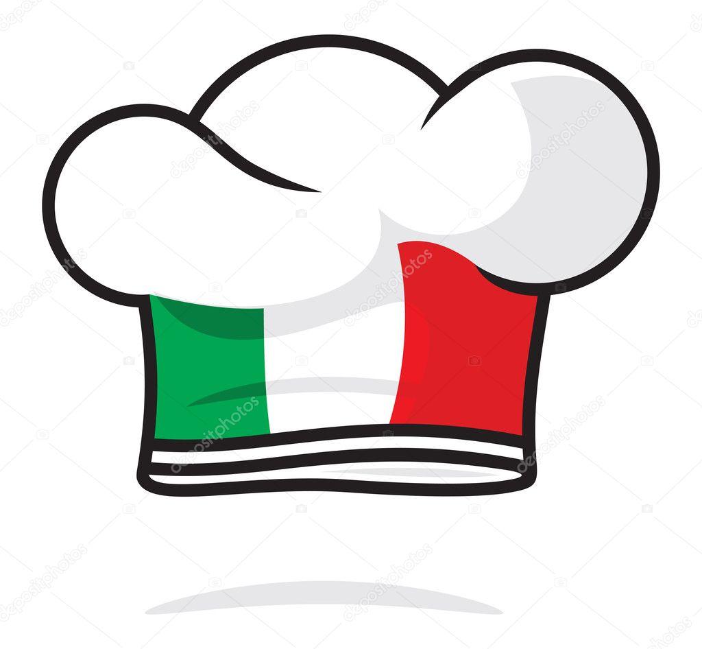Gorro de chef italiano — Vector stock © branchecarica #30550297
