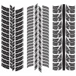 Various tyre treads — Stock Vector