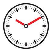 Vector clock face - easy change time — Stockvektor