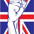 Great Britain fist — Stock Vector