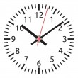 Stock Vector: Vector clock face - easy change time