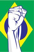 Brazilië vuist — Stockvector