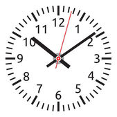 Vector clock face - easy change time — Stock Vector