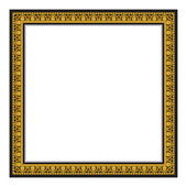 Gold antique frame isolated on white background — Stock Vector