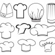 Chef hat collection — Stock Vector