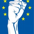 EU fist — Stock Vector