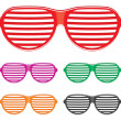 Shutter shades sun glasses collection — Stock Vector #31033333