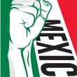 Stock Vector: Mexico fist