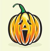 Holiday pumpkin jack lantern — Stock Vector