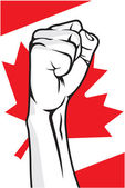 Canada fist — Stock Vector