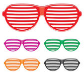 Shutter shades sun glasses collection — Stock Vector