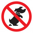 No dog  sign — Stock Vector