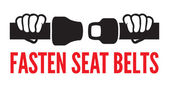 Fasten your seat belts icon — Stock Vector