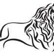 Lion — Vector de stock #33713287