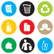 Recycling icon set — Stock Vector #33713359