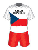 Czech republic football uniform — Stock Vector