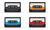 Cassette tape collection — Stock Vector