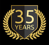 Golden laurel wreath 35 years — Vettoriale Stock