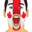 Canada fan face — Stock Vector