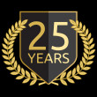 Golden laurel wreath 25 years — Vector de stock #34639265
