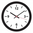 Vector clock face - easy change time — Stock vektor