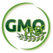 Gmo free label — Stock Vector