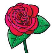 红玫瑰图 — 图库矢量图片