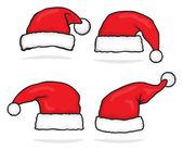 Santa hat collection — Stock Vector