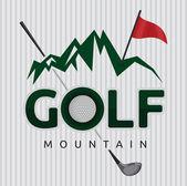 Symbole de golf — Vecteur