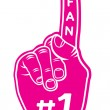 Foam finger - fan finger — Stock Vector