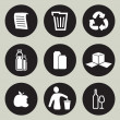 Recycling-Icon-set — Stockvektor