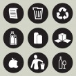 Recycling icon set — Stock vektor