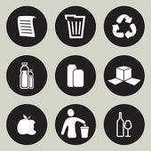 Recycling icon set — Stock Vector