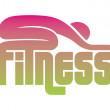 Fitness sign — Stock Vector
