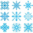 Nine original vector snow-flakes — Stock Vector