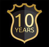 Golden shield years — Vector de stock