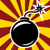 Retro bomb — Stock Vector