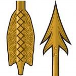 Gold arrow — Stock Vector