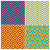 Retro pattern set — Stock Vector