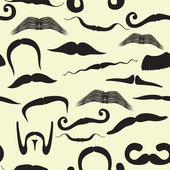 Seamless mustache pattern — Vetorial Stock